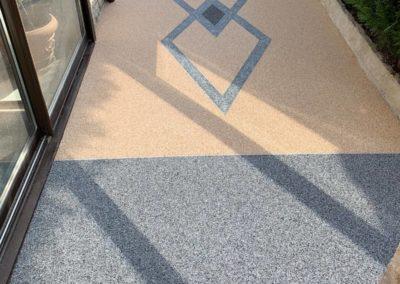 Terrasse en résine de marbre