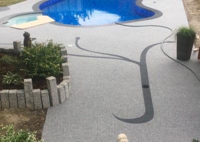 Plage de piscine Tapis porteur drainant et Résine de marbre Haut-Rhin 88